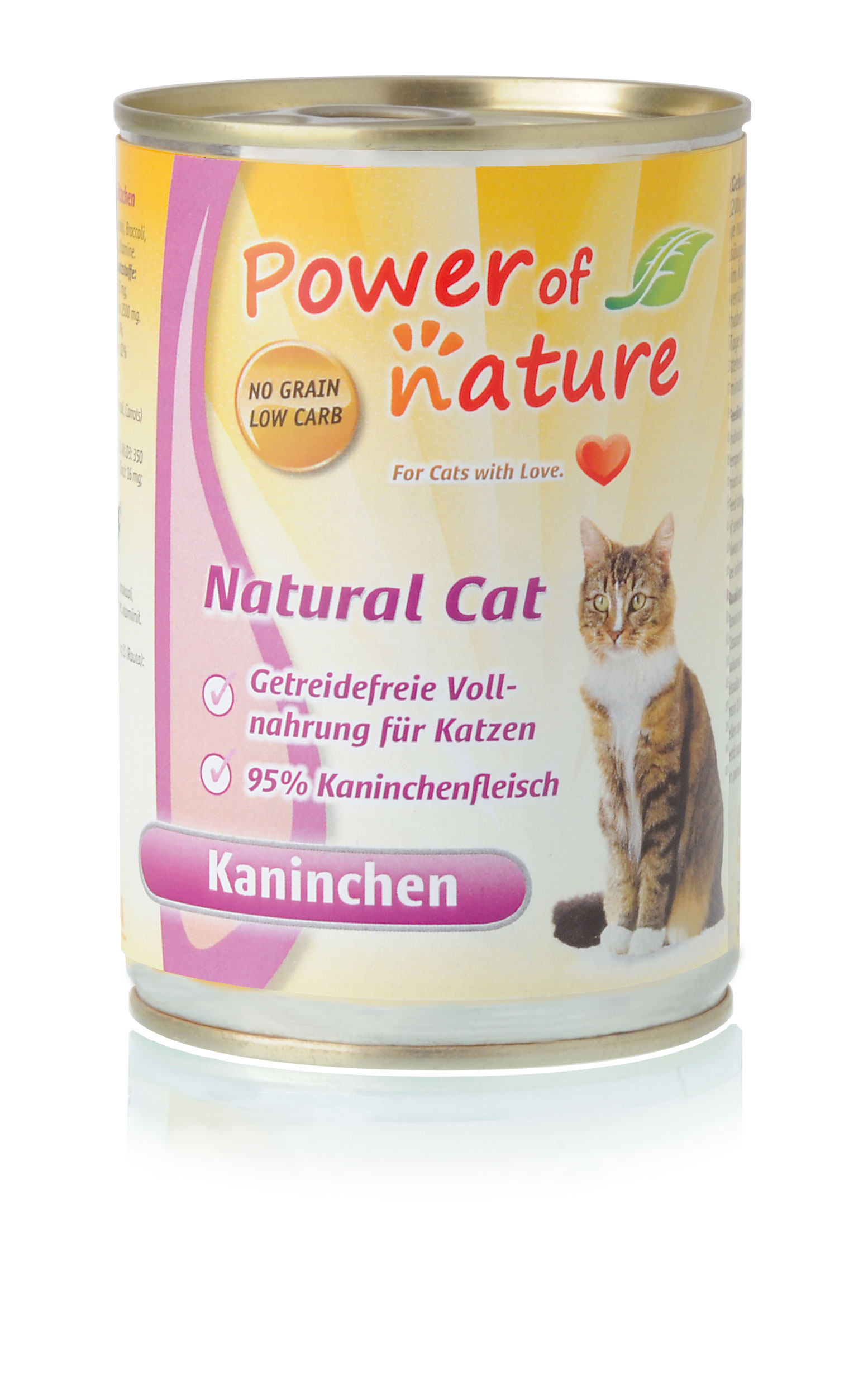 Power of Nature Natural Cat Dose Kaninchen 24 x 400g