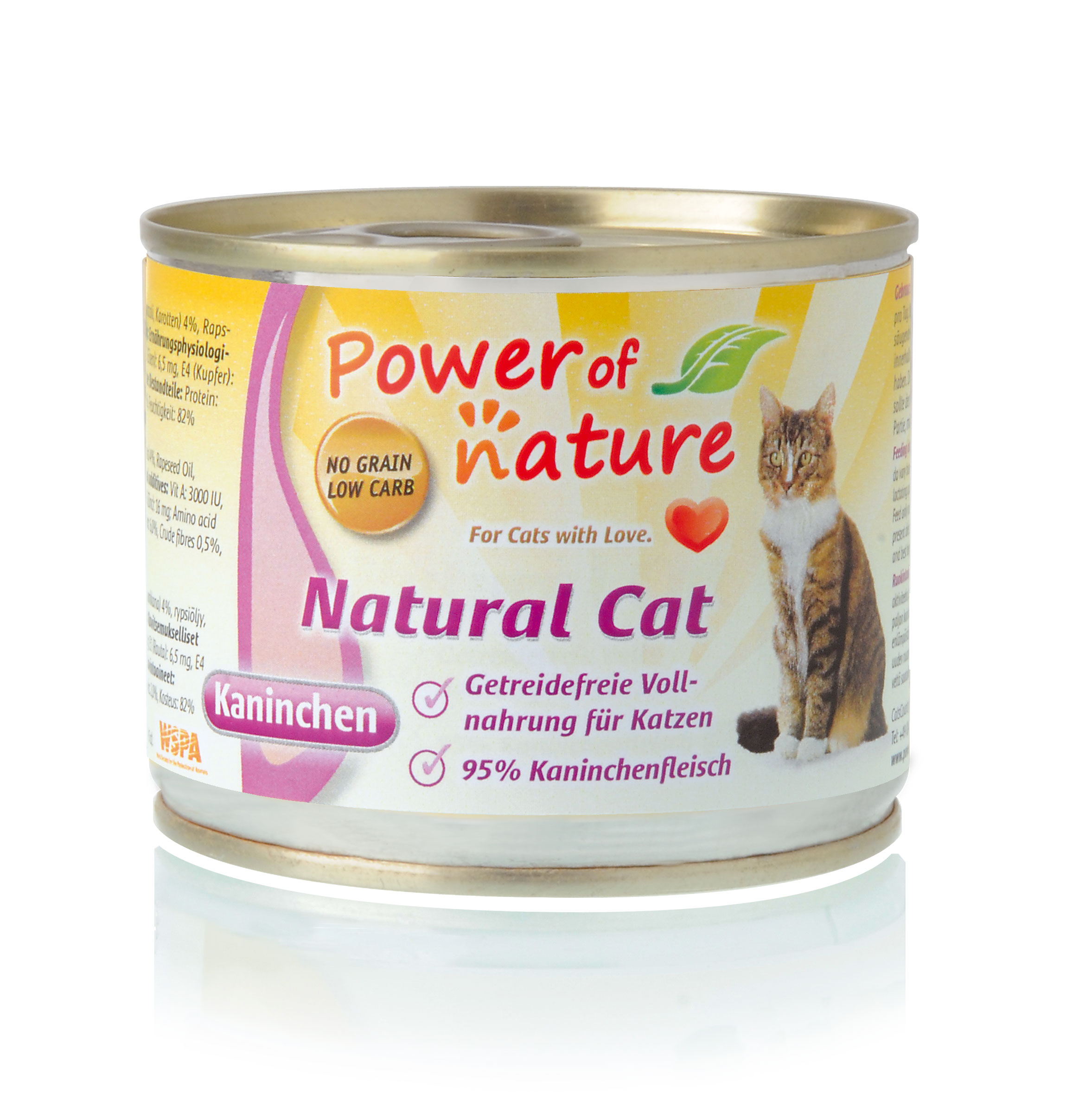 Power of Nature Natural Cat Dose Kaninchen 24 x 200g