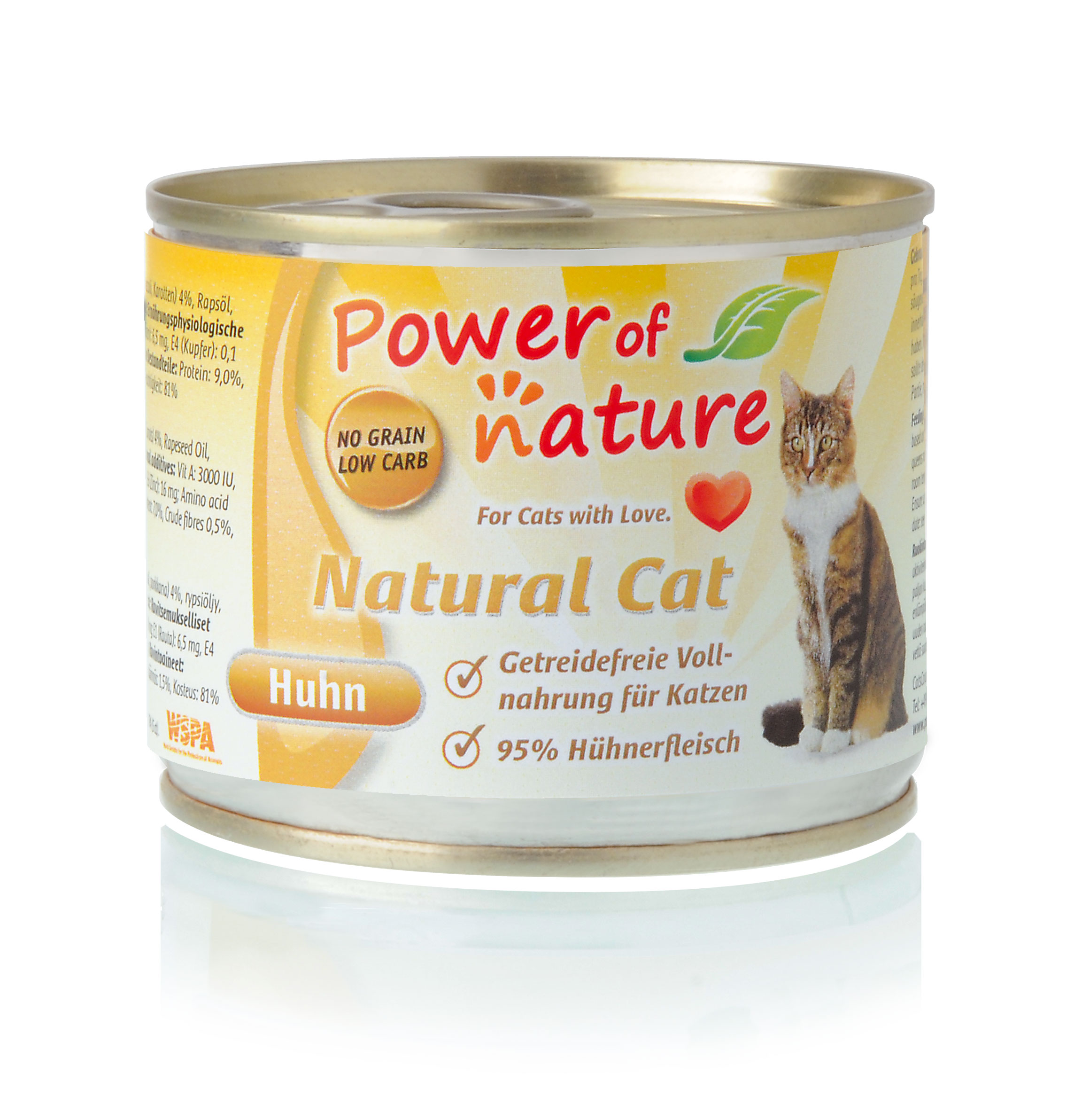 Power of Nature Natural Cat Dose Huhn 24 x 200g