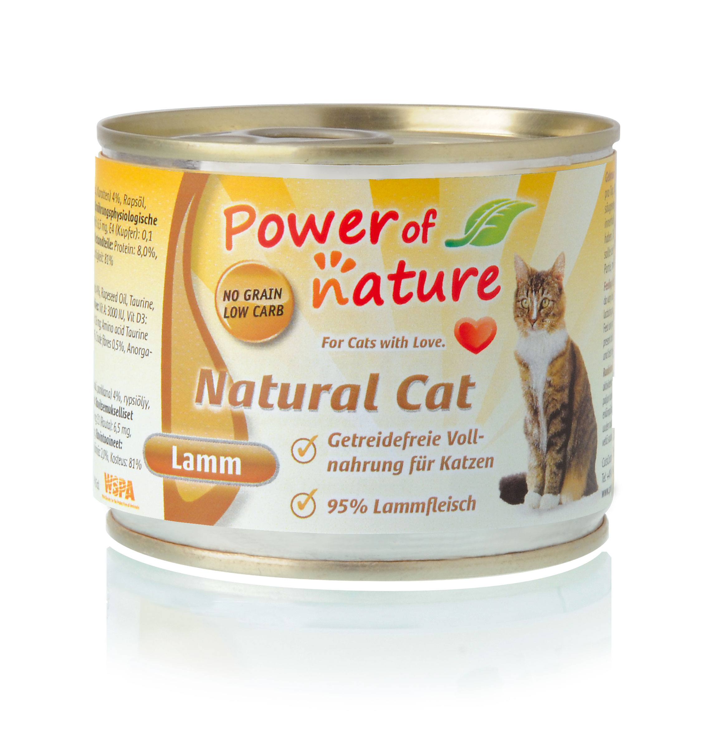 Power of Nature Natural Cat Dose Lamm 24 x 200g